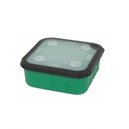 Sensas Aasdoos groen - clear - zwart madendoos 2l