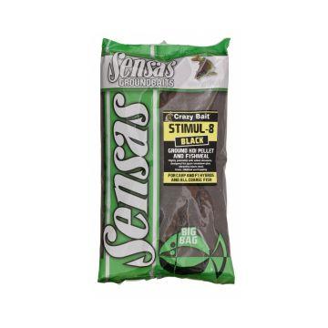 Sensas Big Bag Stimul 8 Black 2kg zwart witvis visvoer