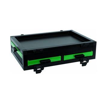 Sensas Blok Vak 2 Schuifladen Front 1 Zijwaarts zwart - groen witvis  41x28.5x8cm