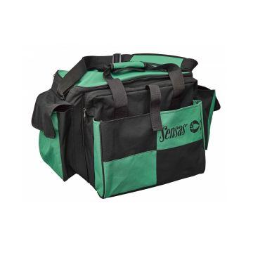 Sensas Classic Carryall zwart - groen foreltas witvistas 73x41x36cm