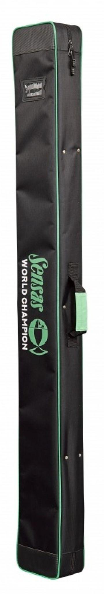 Sensas Classic Stijf Topsetkoffer zwart - groen visfoudraal 1m65