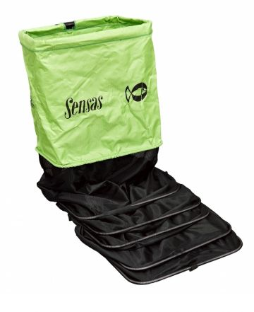 Sensas Competition Green Rechthoek zwart - groen witvis leefnet 3m00