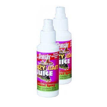 Sensas Crazy Baits Spray Red Strawberry - karperflavour witvisflavour 75ml