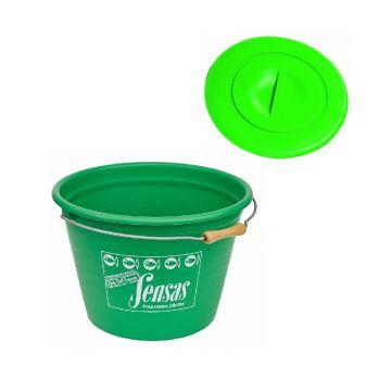 Sensas Emmer + Deksel groen visemmer 25l