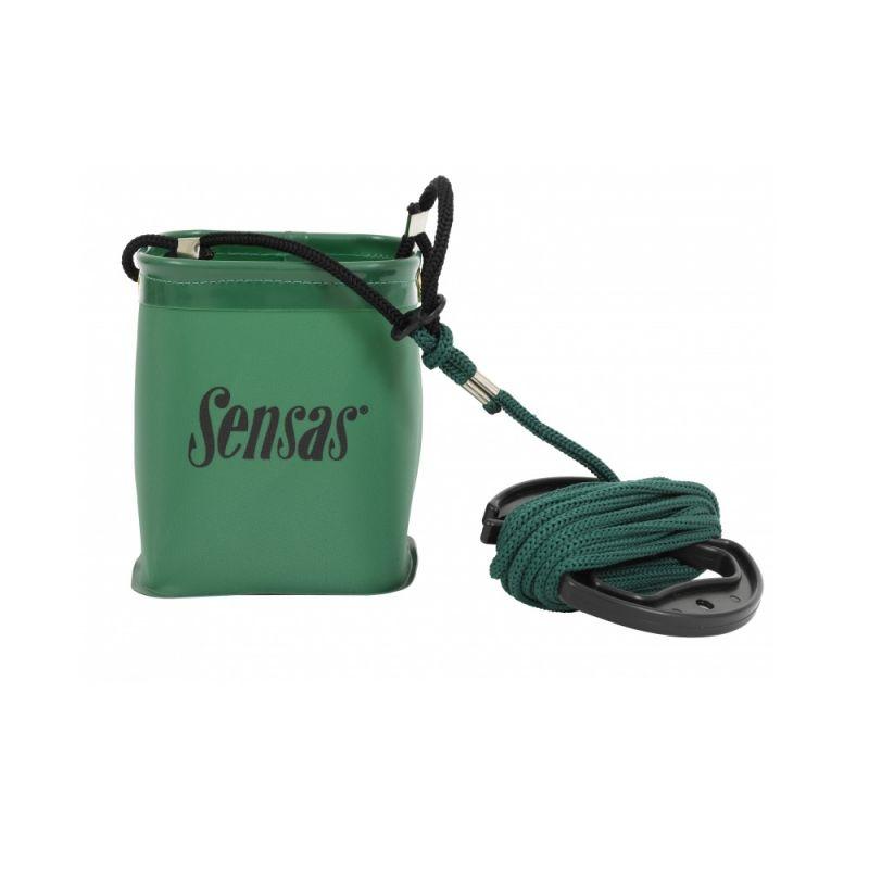 Sensas Emmer Waterproof + Koord groen visemmer