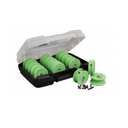 Sensas Feeder Match Rig Box noir - vert - blanc  27x21x8cm