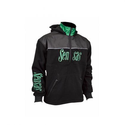 Sensas Fleece Club Bicolore zwart - groen vistrui Xxx-large