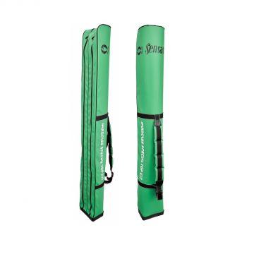 Sensas Foedraal Jumbo Stijf Competition zwart - groen visfoudraal 185x23x24 2 Vakken