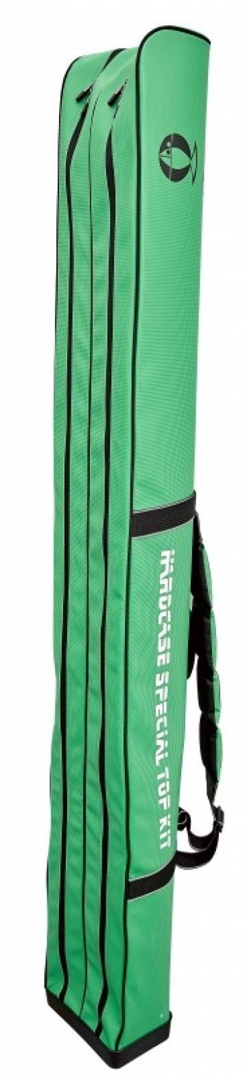 Sensas Foedraal Jumbo Stijf Competition zwart - groen - wit visfoudraal 210x23x24cm 2 Vakken