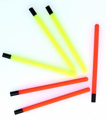 Sensas Holle Plastic Antenne geel - rood - zwart klein vismateriaal 1.00mmx50mm