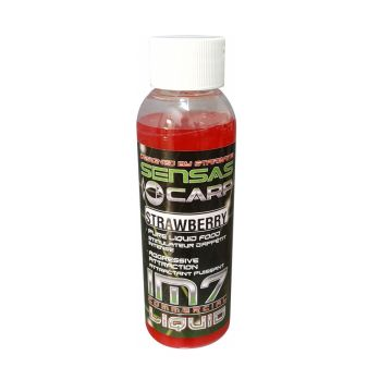 Sensas IM7 Booster Strawberry rood karperflavour witvisflavour 100ml