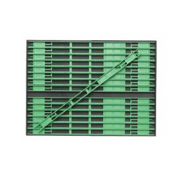 Sensas Inbouwbox + Tuigenrekjes licht groen onderlijn plankje 26cm M
