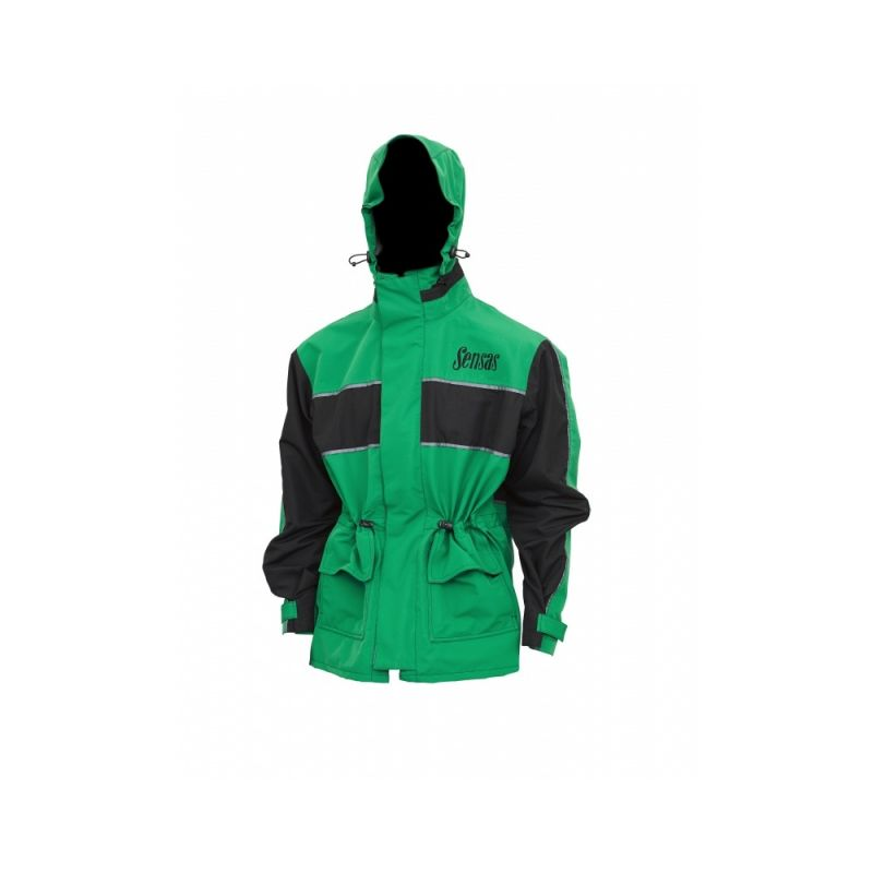 Sensas Jack England zwart - groen visjas Large