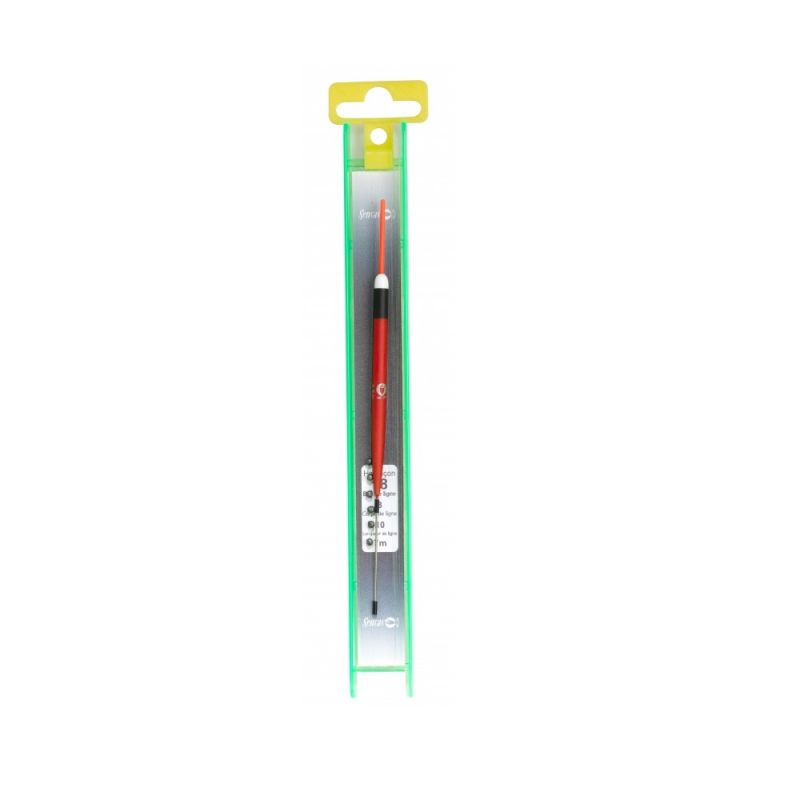 Sensas K-E-K Tuig Aline zwart - rood kant & klare vislijn 0.40g 0.10mm H20