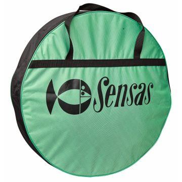 Sensas Leefnettas Challenge Rond zwart - groen foreltas witvistas 55x55x10cm