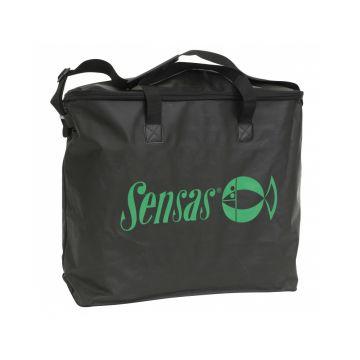 Sensas Leefnettas Challenge Waterproof zwart - groen foreltas witvistas 60x55x20cm