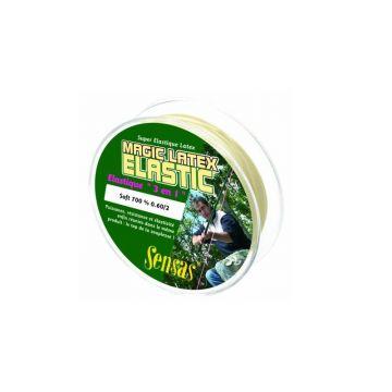 Sensas Magic Latex Elastic Soft 700% NATUREL witvis viselastiek 1.00mm 7m