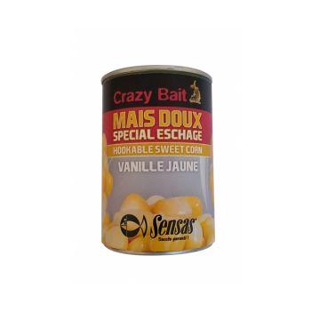 Sensas Maïs Crazy Bait Banane 285g geel partikel