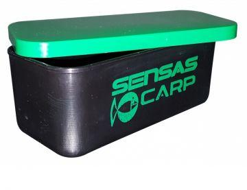 Sensas Mini Aasdoos groen - zwart madendoos 13x6.5x5cm