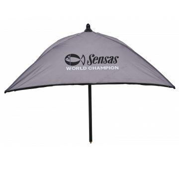 Sensas Paraplu Aastafel grijs - zwart witvis  70x70cm