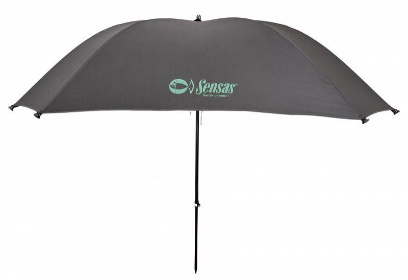 Sensas Paraplu Super Challenge Power Vierkant noir - vert  2m50