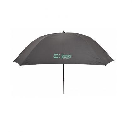 Sensas Paraplu Super Challenge Vierkant zwart - groen visparaplu 2m50