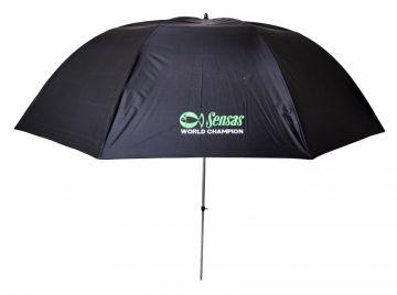 Sensas Paraplu Ulster zwart - groen visparaplu 2m50