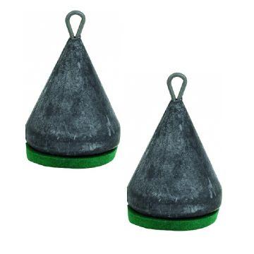 Sensas Peillood Pyramide nickel - groen vislood 50g