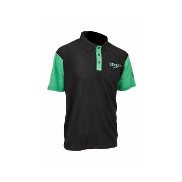 Sensas Polo Club Bicolore zwart - groen vis t-shirt Large