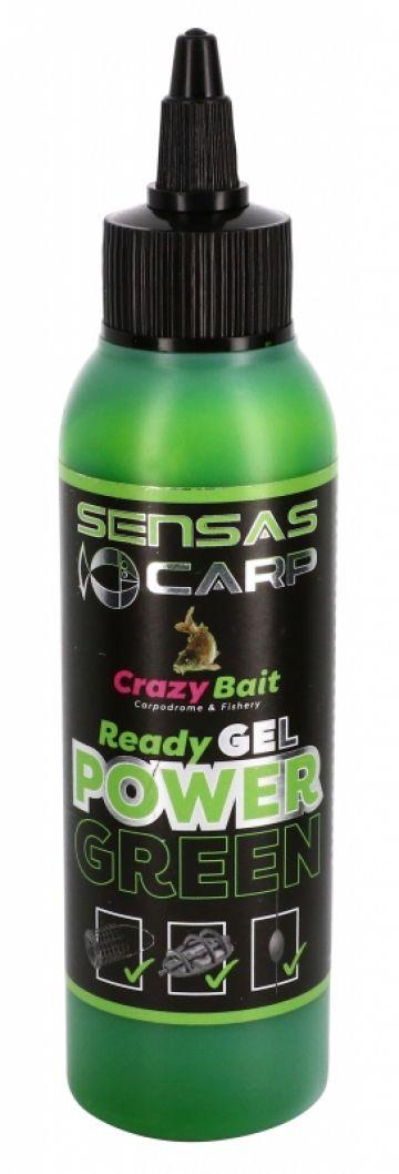 Sensas Ready Gel Power Green groen aas liquid 115ml