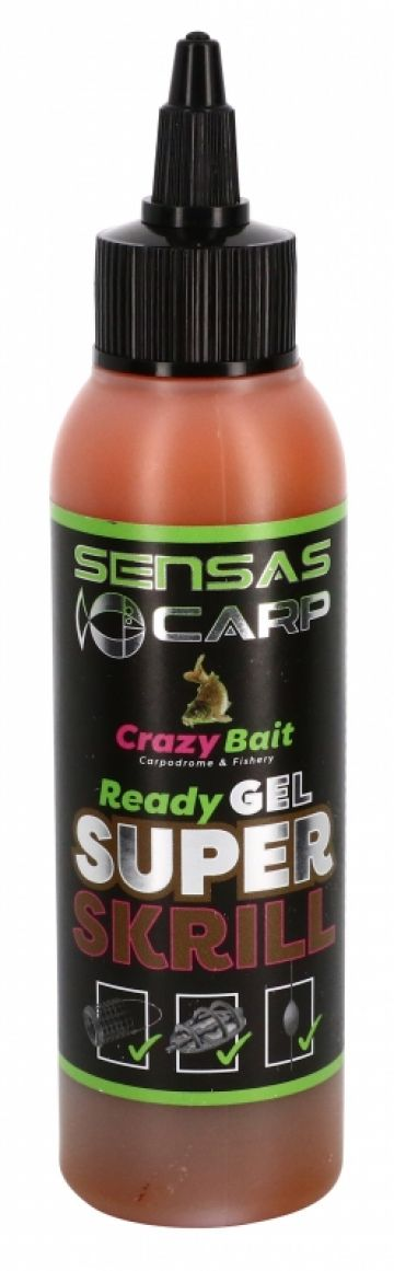 Sensas Ready Gel Super Krill bruin aas liquid 115ml