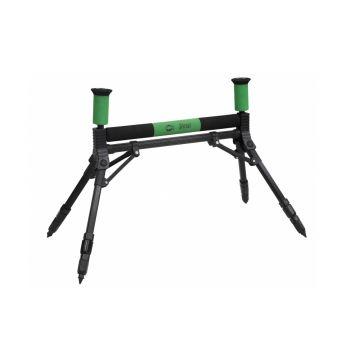 Sensas Rolsteun 4 Poten Luxe zwart - groen hengelsteun 50cm