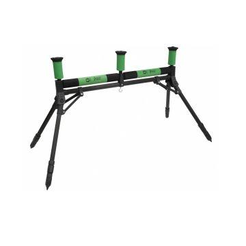 Sensas Rolsteun 4 Poten Luxe zwart - groen hengelsteun 2x27cm