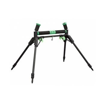 Sensas Rolsteun Jumbo Super Luxe zwart - groen hengelsteun 60cm