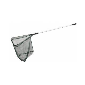 Sensas Roofvisnet Driehoekig Opvouwbaar zwart - zilver roofvis visschepnet 2m40