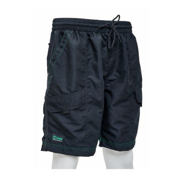 Sensas Short Fashion Club zwart - groen visbroek X-large