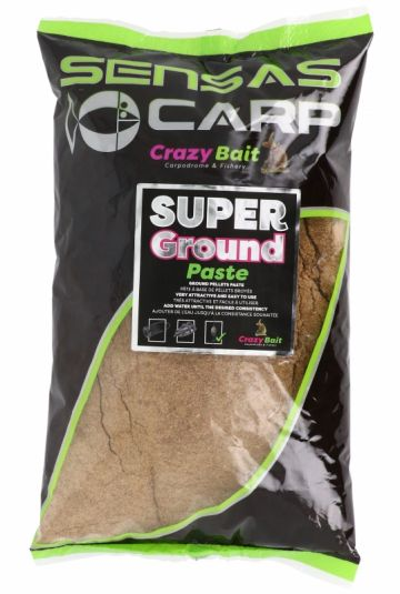 Sensas Super Ground Paste 1kg bruin witvis visvoer