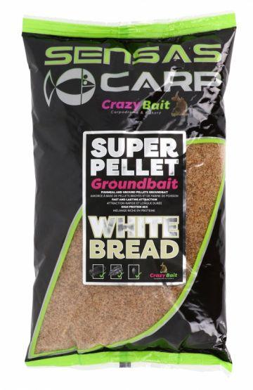 Sensas Super Pellet Groundbait White Bread 1kg bruin witvis visvoer