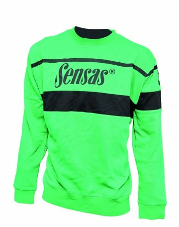 Sensas Sweat Club zwart - groen vistrui X-large