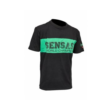 Sensas T-Shirt Club Bicolore zwart - groen vis t-shirt Large