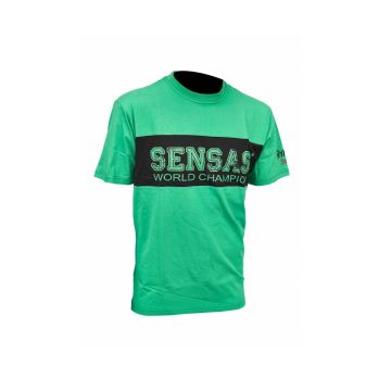 Sensas T-Shirt Club Bicolore zwart - groen vis t-shirt Small