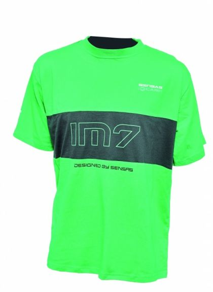 Sensas T-Shirt IM7 zwart - groen vis t-shirt Medium