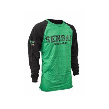 Sensas T-Shirt Lange Mouw zwart - groen vis t-shirt Large