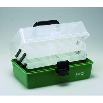 Sensas Viskoffer 2-Verdelingen groen - clear - zwart viskoffer