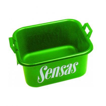 Sensas Voerbalbak groen visemmer 37x35x20cm