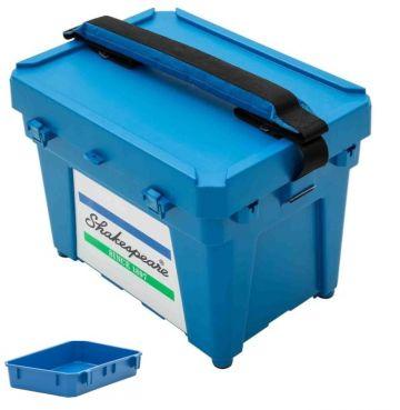 Shakespeare Seatbox blauw zeevis visbak