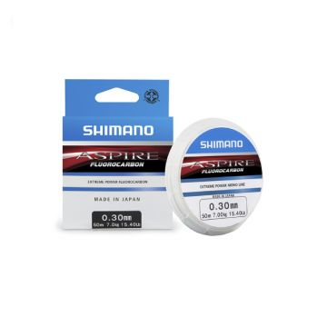 Shimano Aspire Fluocarbon clear visdraad 0.18mm 50m
