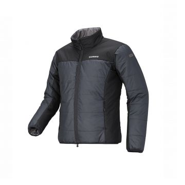 Shimano Light Insulation Jacket ZWART - GRIJS visjas Large