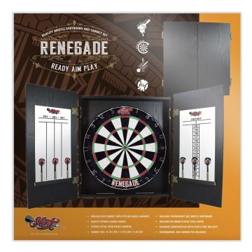 Shot Renegade Dartboard Cabinet Set multi