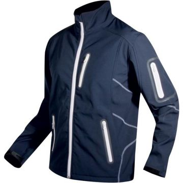 Softshell Vercelli wit - blauw visjas Large